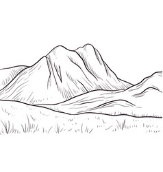 abstract monochrome sketch landscape vector image