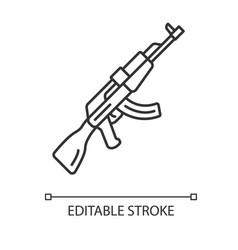 Akm weapon linear icon virtual game firearm gun vector