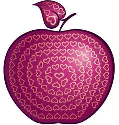 Apple of love vector