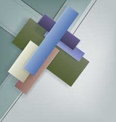 Art Deco style geometric bright design vector image
