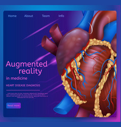 Augmented reality in medicine vector