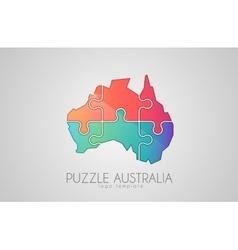 Australia logo puzzle creative logo vector