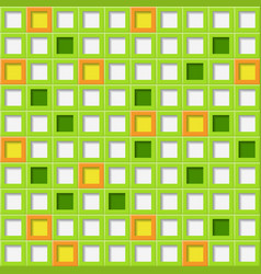 background of tiles with square holes vector image