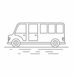 big tourist bus line icon vector image