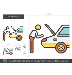 Car repair line icon vector