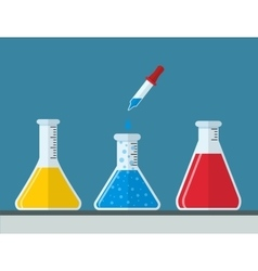 chemistry and Medical Laboratory vector image