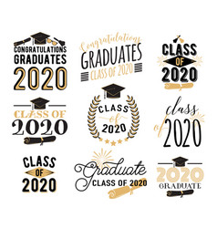 Congratulation graduation wishes overlays vector