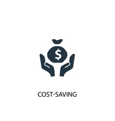 Cost-saving icon simple element vector