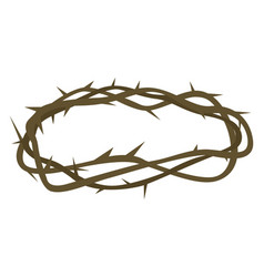 Crown thorns on white background vector