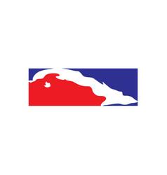 Cuba map logo icon element vector