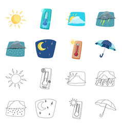 design of weather and climate symbol vector image
