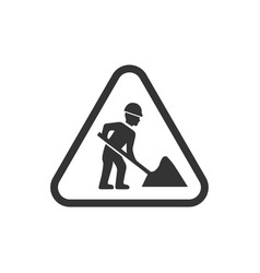 Digging sign vector