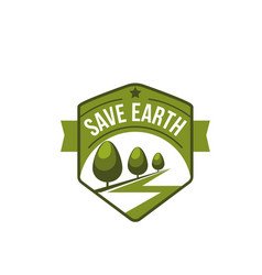 Earth day nature ecology conservation icon vector