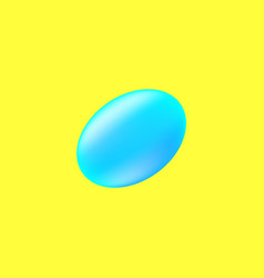 Egg on the yellow background vector