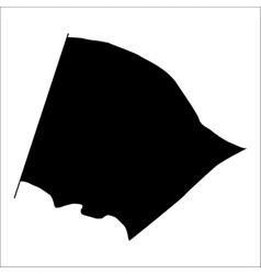 Flag black silhouette vector
