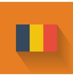 Flat flag of Romania vector image