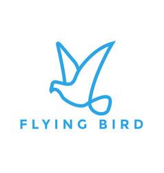 flying bird logo design inspiration vector image