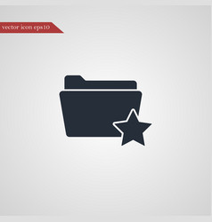folder icon simple vector image