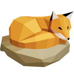 Fox on a rock vector