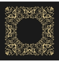 Frame with swirls in the fashionable outline style vector image