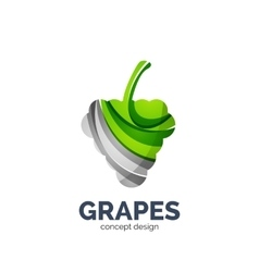 Grapes creative abstract fruit logo vector
