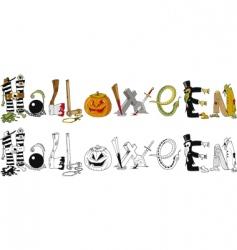 Halloween typography vector image