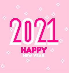 happy new year 2021 condensed numbers and flowers vector image