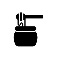 Honey icon pot icon vector