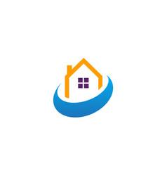 house realty company logo vector image