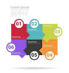 infographics tabs vector image