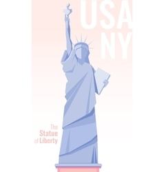 Isolated statue of liberty on background Flat vector