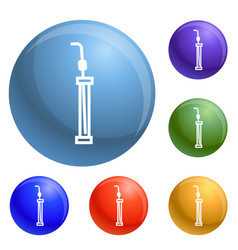 laboratory pipette icons set vector image