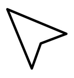 Localization arrow icon line style vector