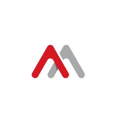 m letter logo business vector image