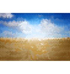 Mosaic Artistic Background with Sand vector