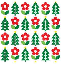 Nordic christmas folk art seamless pattern vector