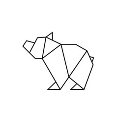 origami bear vector image