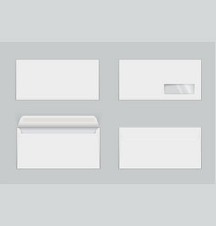 Paper envelopes with transparent window realistic vector