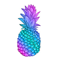 Pineapple creative trendy art poster vector