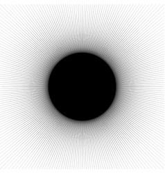 Radial radiating lines abstract element circular vector