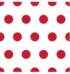 red and white polka dot seamless repeating pattern vector image