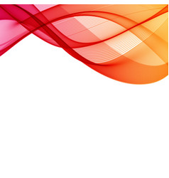 Red wav abstract background with curves lines for vector