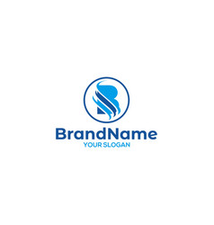 Sb wave logo design vector