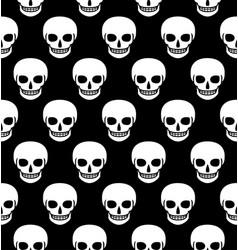 skulls seamless pattern flat vector image