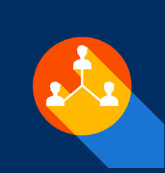 Social media marketing sign white icon on vector