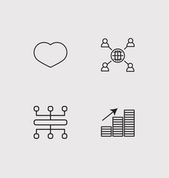 Sosial media simple linear icons set outlined vector