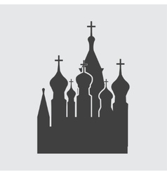 St Basils Church icon vector image