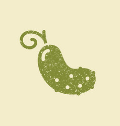 stylized flat icon of a cucumber vector image