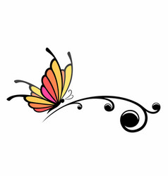Symbol butterfly vector