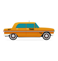 Taxi old car flat design vector